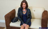 Naughty America Veronica Avluv Veronica Avluv decided to surprise her husband at his office. Since he's been working so hard she decides to give him a little treat....her nice trimmed pussy. She pulls up her dress to reveal she's not wearing any panties then strips it off to