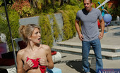 Naughty America Amanda Tate Amanda Tate is taking a dip in the pool when she decides it would be fun to play with her pussy. All of a sudden she catches her boyfriend's friend, Johnny, peeping on her. Seems like Johnny found out that Amanda like to masturbate while she sun bath