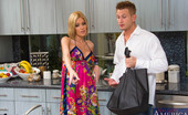 Naughty America Riley Evans 33904 Riley Evans (rileybill)nRiley Evans finally convinced her neighbor, Bill, to stop by her place. She lures him in with the promise of dinner, but she's more interested in dessert and you can't have dessert without whip cream. She makes sure to to