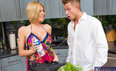 Naughty America Riley Evans Riley Evans (rileybill)nRiley Evans finally convinced her neighbor, Bill, to stop by her place. She lures him in with the promise of dinner, but she's more interested in dessert and you can't have dessert without whip cream. She makes sure to to