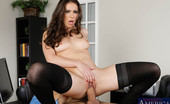 Naughty America Casey Calvert Casey comes into the office to get Ramon for their meeting and finds him sleeping on his desk. She gives him a surprising wake up by dropping her briefcase on his desk then scolds him for not being ready for the meeting. They trade stories of their previo