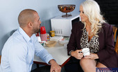 Naughty America Alura Jenson Alura Jenson is a hot busty blonde sexuality teacher. Karlo seeks her advice since sex is her expertise. He hasn't been able to perform in bed lately. Alura can definitely help with that. She believes in the more hands on approach to teaching and boy