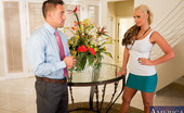 Naughty America Phoenix Marie 34011 Phoenix is going over the design of her foyer with Johnny, who is her interior decorator. He personally put it together and thinks it's the best room in the house. Phoenix hates it and runs his design into the ground. Johnny is willing to do whatever