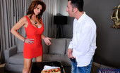 Naughty America Deauxma 34059 Deauxma catches her son's friend sticking his dick in a sandwich. Apparently, he's upset at his boss for making him go get his lunch. Being the nice women that she is, Deauxma decides to give her son's friend a hand in his shenanigans. She milks his cock