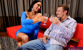 Naughty America Amy Anderssen 34062 Pete is out with his girlfriend's friend Amy. Amy is the only girl that Pete's girlfriend allows him go out with alone and he just happens to take Amy to a swingers club. Pete has been staring at Amy's tits all night and notices her huge ti