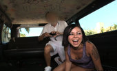 Bang Bus Bond does the bus. And man can she fuck. Come check her out as she takes a ride on the bus and spreads her tights pussy for you