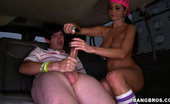Bang Bus one dude so full of himself we tricked him into getting out of the bus naked and just peeled off! The girls seemed to have a blast so check out the full video