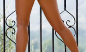 Penthouse Kimberley Rogers Kimberley Rogers flashes her breasts and goes topless outdoors on her balcony