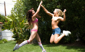 Penthouse Ally, Ashlyn, Kimberly and Valerie It's a tight game of strip volleyball as Ally Kay and Ashlyn Rae take on Kimberly Kiss and Valerie Rios. But, no one really cares about the score so much as they do about scoring and what starts as a friendly backyard game turns into an outdoor orgy!