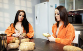 Penthouse Daisy Cruz and Kristina Rose Inmates Daisy Cruz and Kristina Rose have had enough of KP duty and peeling potatoes, so these two sexy jailbirds peel off their own orange prison jumpsuits and turn their individual attentions to pleasuring the other girl's boobs and pussy!