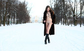 Met Art Natasha S Natasha In Public by Paromov Public nudity at its best with snow on the ground in a public place and fur coat for flashing.