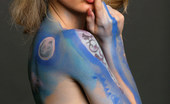 Met Art Natalia B Bodypaint Ii by Rigin Fashion shoot meets body paint meets nude expression.
