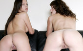 Met Art Nina A & Sandra F Eromania by Luca Helios Kinky girls get nasty while romping on a leather couch.