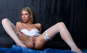 Met Art Anastasia B Sensualita by Rylsky Blonde model is sweating hot as she heats up the images.