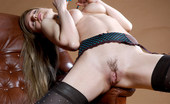 Met Art Gisele A Presenting Gisele by Ingret New model has blonde hair and stockings and is getting aroused in a big leather chair.