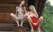 Met Art Ksucha C & Nora A Similian by Goncharov Two edgy girls out in the woods bending over and exposing their nude wonders.