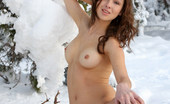 Met Art Alexandra B St.moritz by Gribanov Snow princess with dark hair and a big smile has a trimmed bush , light skin , and medium breasts who loves to melt the snow.