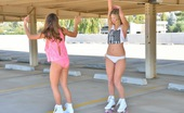 FTV Girls Mary and Scarlet Mary and Scarlet Girls on Roller Skates