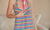 FTV Girls Karly uses a vibrator on her pussy