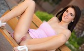 FTV Girls Racquel shows it all sitting on a park bench