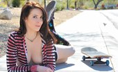 FTV Girls Aiden gets emo and tires to skateboard topless