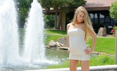 FTV Girls Madison Madison plays outside with a cucumber