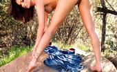 Tori Black masturbating solo in the outdoor sun