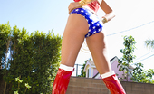 Brunette Tori Black looks hot as Wonder Woman