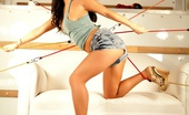 Asa Akira All Tied Up Bombshell Asa Akira is all tied up in the back of a Uhal showing of her amazing body