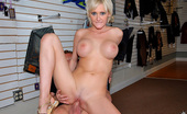 MILF Hunter Hot ass blonde gets doggy style after bending over to shop for clothes in these hot pics