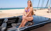 MILF Hunter Super hot big tits bikini beach babe gets picked up in a classic car then fucked and sucked by the pool in these hot wet cumfaced milf pics and big movie
