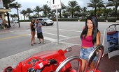 55113 MILF Hunter 2 super hot mini skirt babes get picked up at the beach riding their scooter in this hot 3some fucking hot babe reality pic set