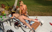 MILF Hunter 2 amazing super hot fucking naked milfs in a pool suck and get fucked in this pool boy fucking 3some amazing pic set
