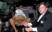 MILF Hunter Hot bride fucked in limo by grooms maid real hot amateur sex party