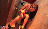 Gf Revenge 4 super hot mini skirt club teens finger and fuck eachother in this hot amateur new years eve bathroom party hot movie