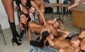 Schoolgirl lesbian orgy with Audrey Bitoni and some of her closest and horniest friends