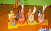 Little Caprice pic_sexpilates05 Four petite 18yo girls loose control during aerobics