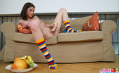 Little Caprice capr_picfruits06 This sweet inexperienced teen wanna learn to fuck   with banana
