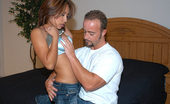 8th Street Latinas jasmine Tanned honey with a prefect ass rides cowgirl style