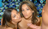 8th Street Latinas allure These 2 sexy latinas are gettin smoked out and then smokin some cock in these hot pics