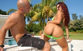 8th Street Latinas melissa Super hot big tits hot ass latina gets her red hair pussy rammed hard and fucked at the beachside pool in these hot fuck pics