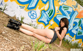 Bryci gets naked outside by some graffiti!