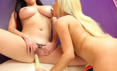 Tasha Reign and Taylor Vixen with sex toys