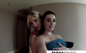 Tasha Reign slippery shower with Taylor Vixen
