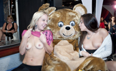 Dancing Bear Topless cock sucking party sluts