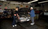 Money Talks savannah Savannah pays the mechanic for her car with a backroom office fuck