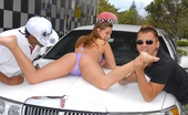 Money Talks gracie Super hot bikini babe gets fucked at the car wash after getting a ride all soaked up