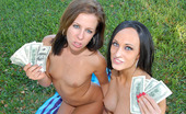 Money Talks alida 59691 Super hot teens get their boxed rammed in their little pussies in this hot fucking outdoor 3some