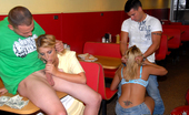 Money Talks alida Hot amateur teens get fucked inside a fastfood restaurant in these hot fucking 4 cash pics