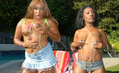 Round And Brown tosha Hot horny ebony babes get freaky cum watch these hotties play
